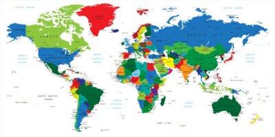 Papier peint  Plan-les pays du monde