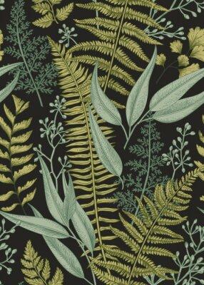 Papier peint  Seamless floral pattern dans le style vintage.